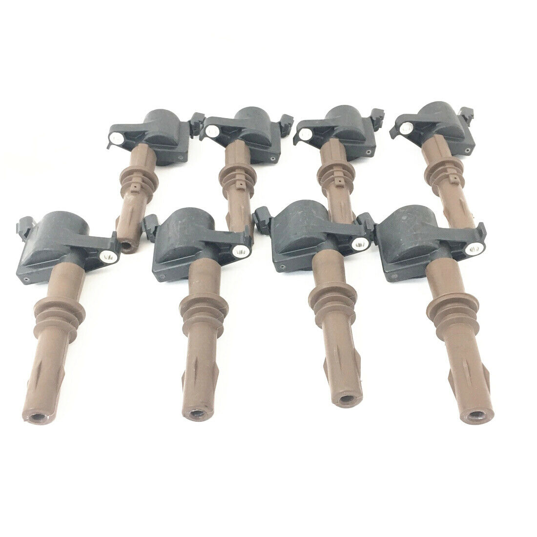 Genuine Ford Ignition Coils 4.6L 5.4L 3V Brown Boot Set of 8